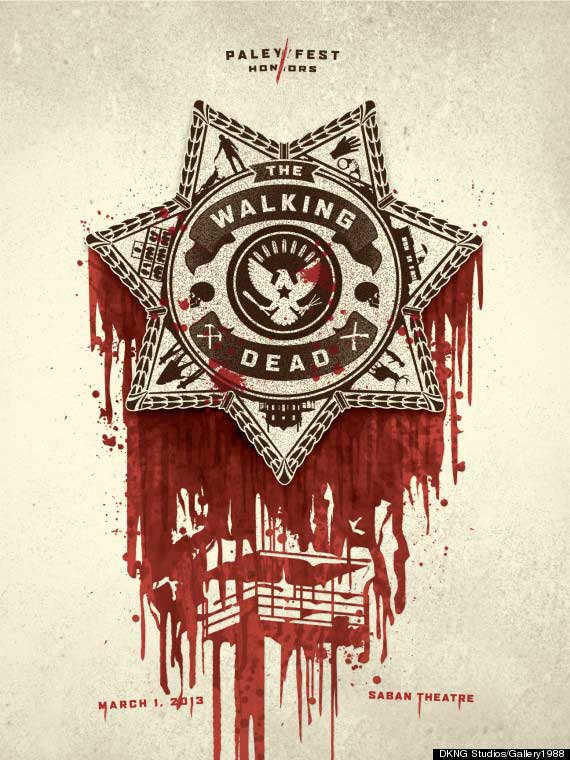 The official poster from PaleyFest 2013's The Walking Dead Panel.