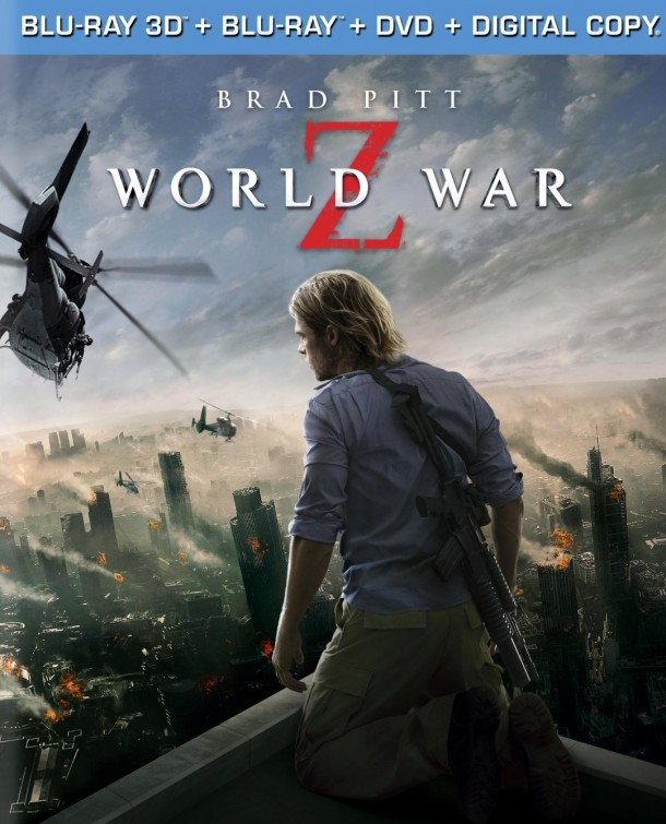 The Blu-ray/DVD cover for World War Z has surfaced online.