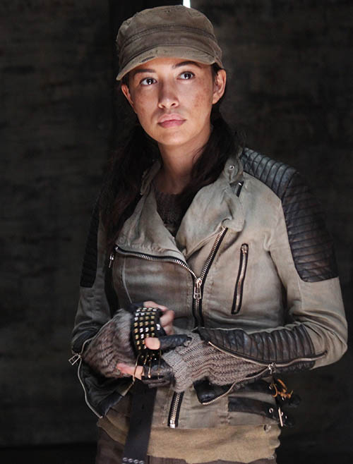 Christian Serratos as Rosita Espinosa - The Walking Dead _ Season 5, Episode 1 - Photo Credit: Greg Nicotero/AMC