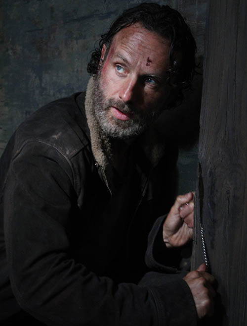 Andrew Lincoln as Rick Grimes - The Walking Dead _ Season 5, Episode 1 - Photo Credit: Greg Nicotero/AMC