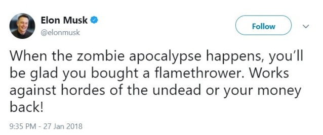 Elon-Musk-tweet-zombie-flamethrower